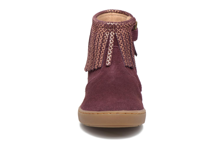 Bottines et boots Shoo Pom Play Fringe Bordeaux vue portées chaussures