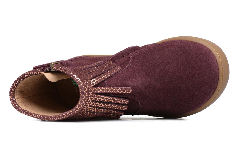 Bottines et boots Shoo Pom Play Fringe Bordeaux vue gauche