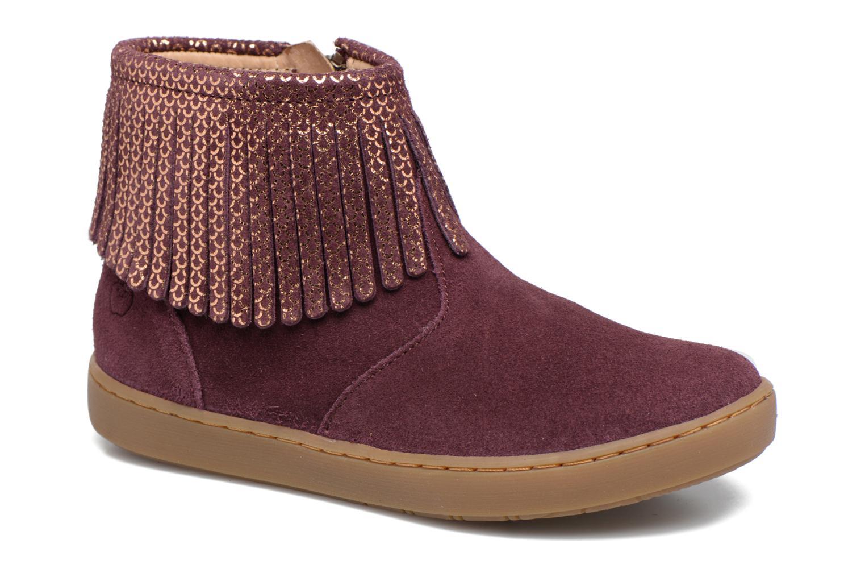 Bottines et boots Shoo Pom Play Fringe Bordeaux vue détail/paire