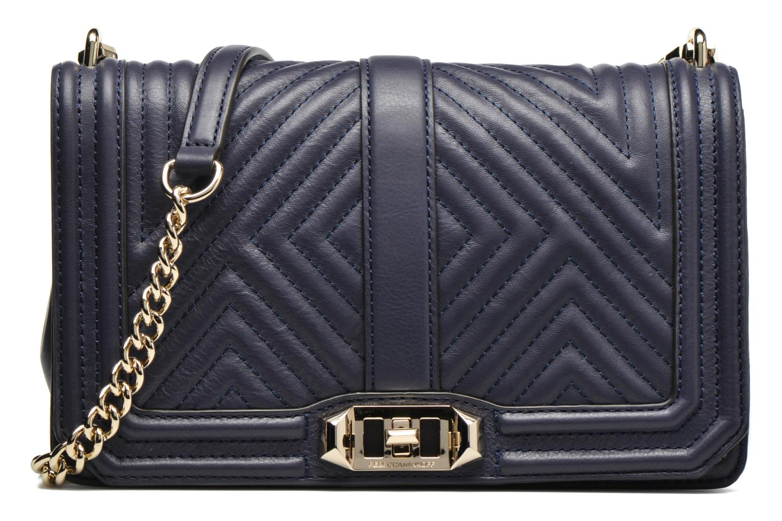 Geo quilted Love Crossbody Moon - Light Gold