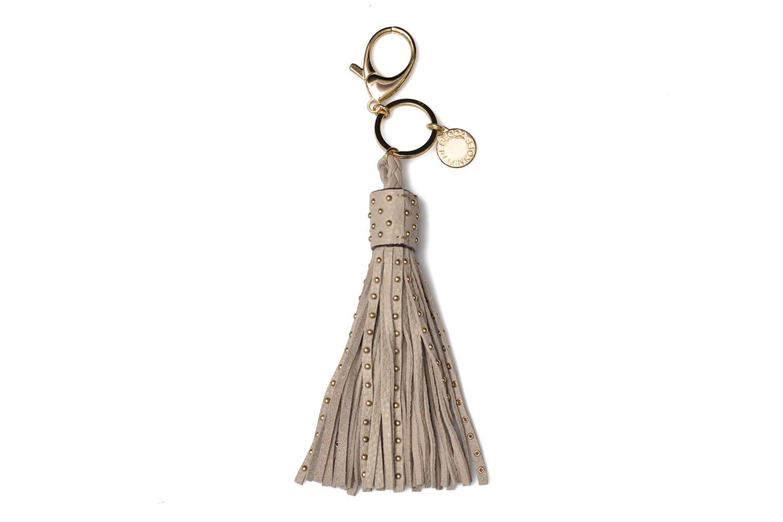 Pin Stud Tassel Keychain Khaki - Light Gold