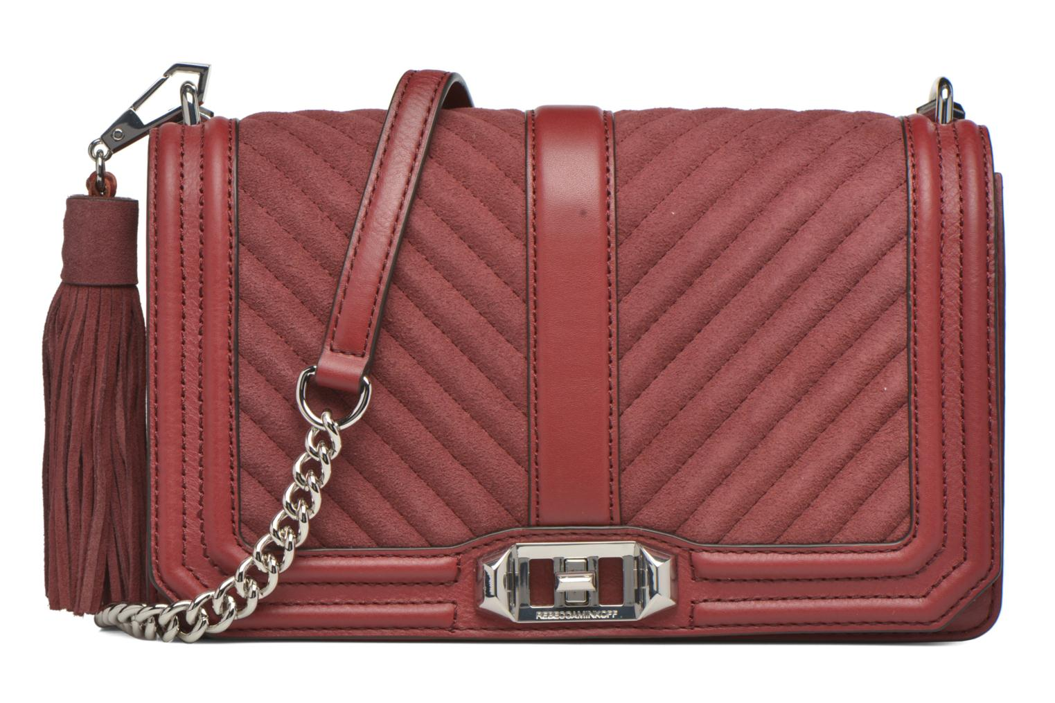 Sacs à main Rebecca Minkoff Chevron Quilted Love Crossbody Bordeaux vue détail/paire