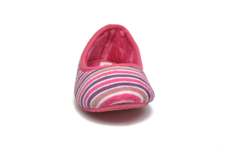 Chaussons Dim D Terezie Rose vue portées chaussures