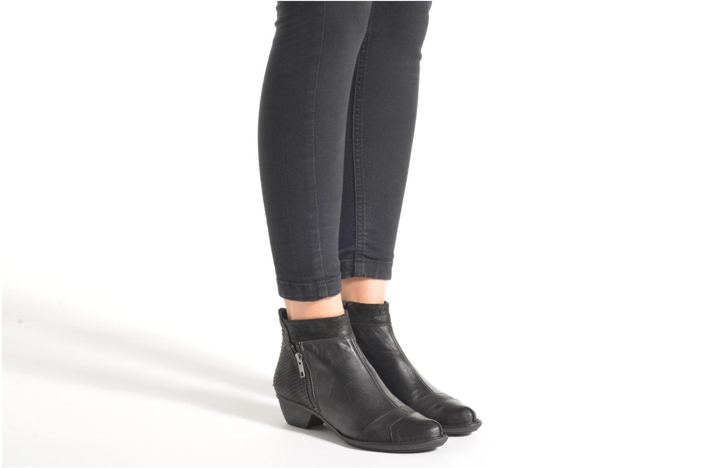 Bottines et boots Dorking Nina 6863 Noir vue bas / vue portée sac
