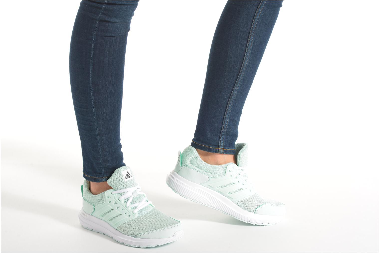 Chaussures de sport Adidas Performance galaxy 3 w Vert vue bas / vue portée sac
