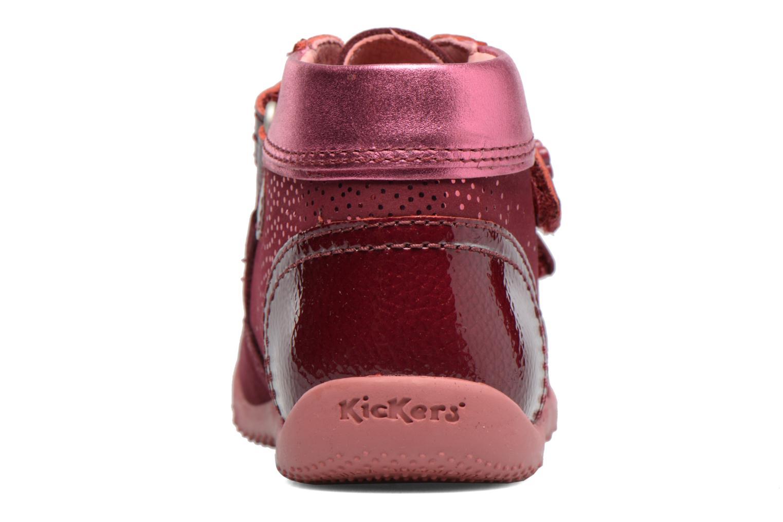Bottines et boots Kickers Biliana Rose vue droite