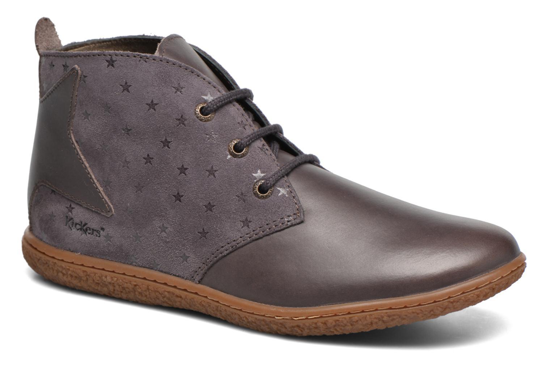 Bottines et boots Kickers Verblue Gris vue détail/paire