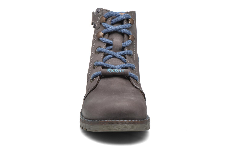 Bottines et boots Kickers Halloa Gris vue portées chaussures