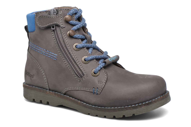 Bottines et boots Kickers Halloa Gris vue détail/paire