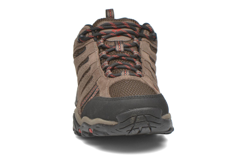 Chaussures de sport Columbia North Plains II Waterproof Marron vue portées chaussures