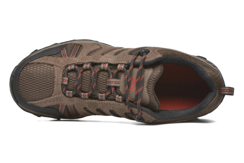 Chaussures de sport Columbia North Plains II Waterproof Marron vue gauche