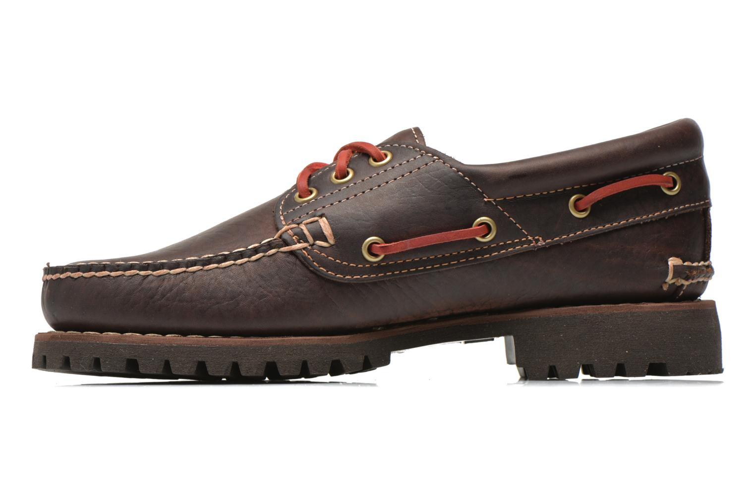 Chaussures à lacets Timberland Heritage 3-Eye Classic Lug Marron vue face
