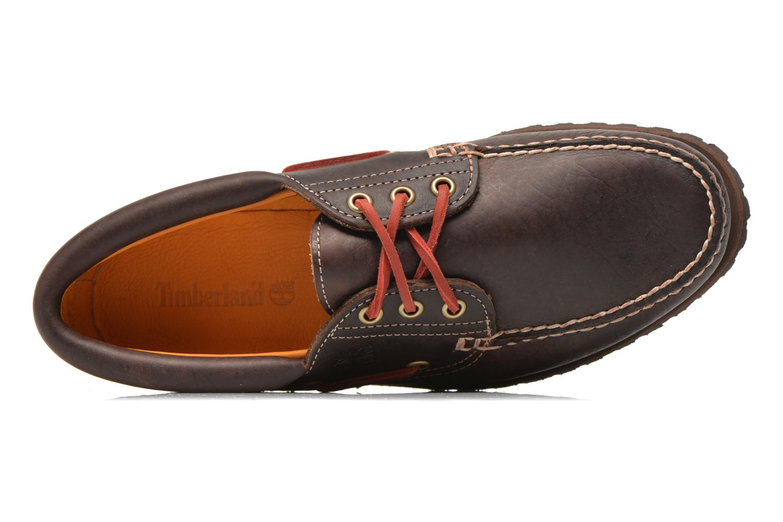 Chaussures à lacets Timberland Heritage 3-Eye Classic Lug Marron vue gauche