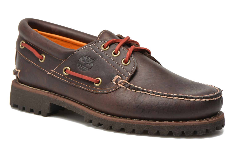 Chaussures à lacets Timberland Heritage 3-Eye Classic Lug Marron vue détail/paire