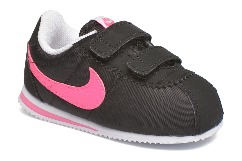 Baskets Nike Nike Cortez Nylon (Tdv) Noir vue détail/paire