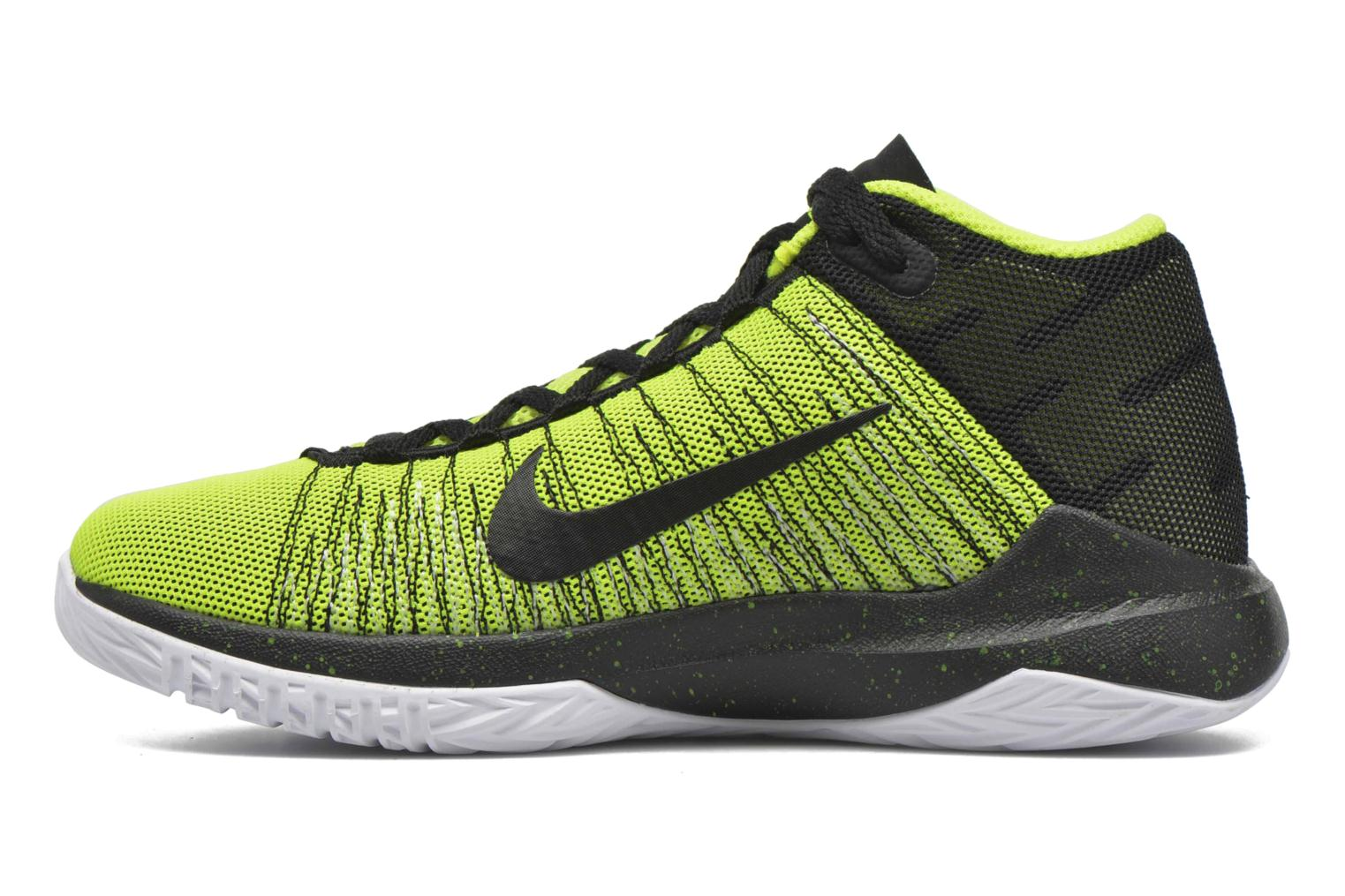 Trainers Nike Nike Zoom Ascention (Gs) Yellow front view