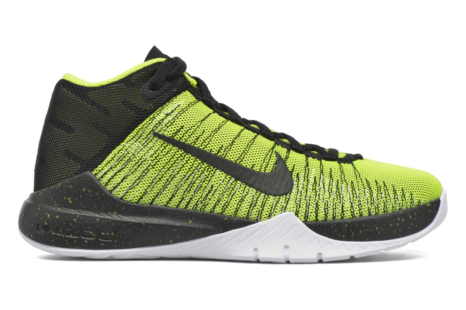 Trainers Nike Nike Zoom Ascention (Gs) Yellow back view