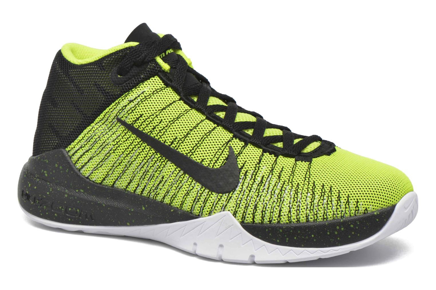 Trainers Nike Nike Zoom Ascention (Gs) Yellow detailed view/ Pair view