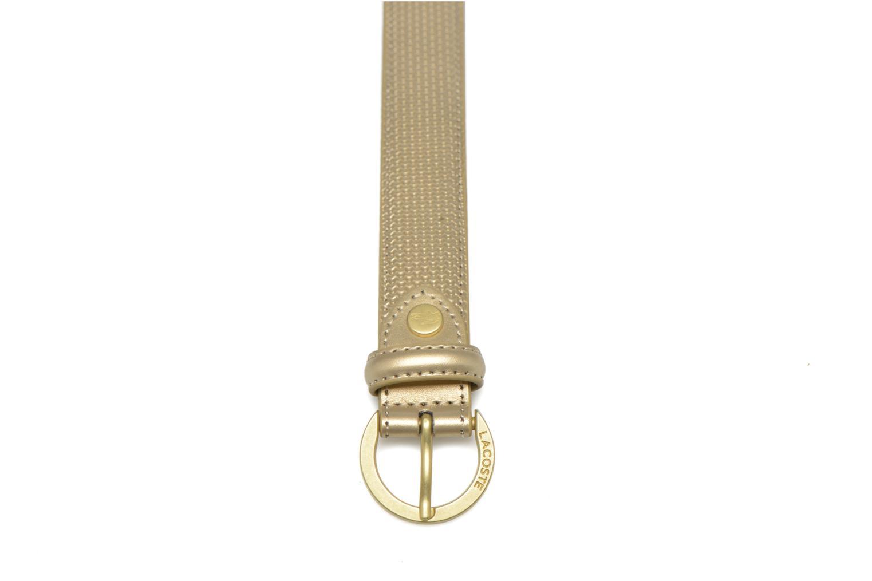 Leather belt N Gold