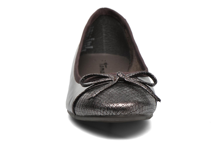 Ballerines Tamaris Tenella Bordeaux vue portées chaussures