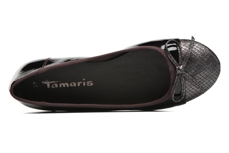 Ballerines Tamaris Tenella Bordeaux vue gauche