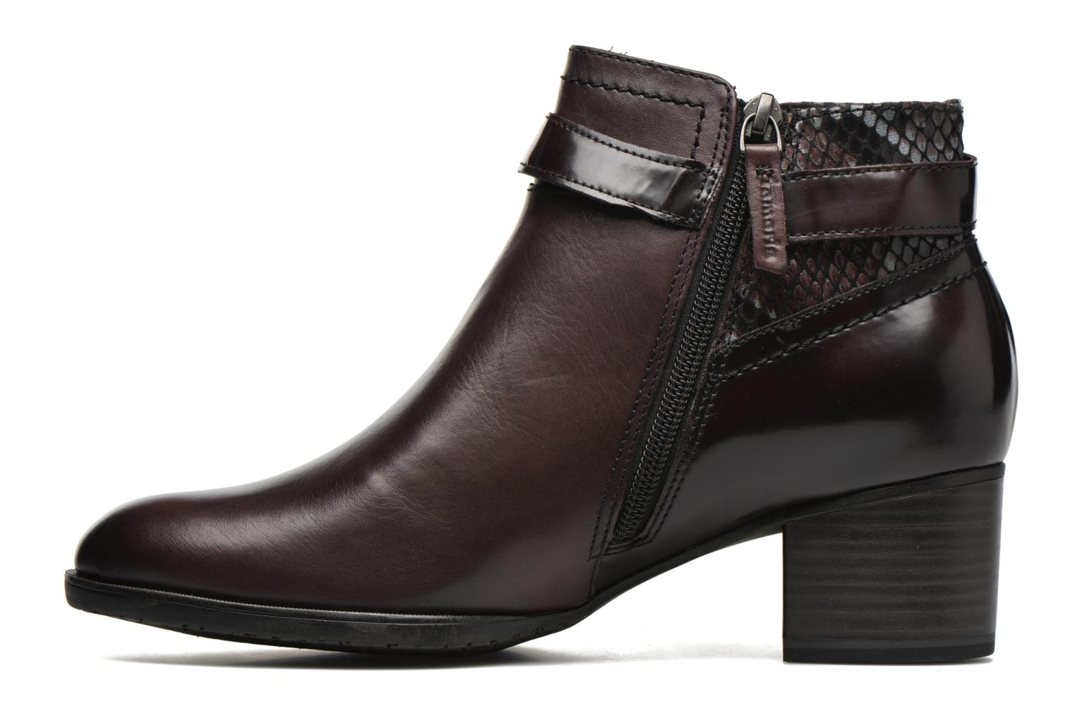 Bottines et boots Tamaris Eucomis Bordeaux vue face