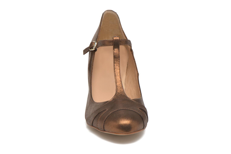 Høje hæle San Marina Lanosa/Met Guld og bronze se skoene på