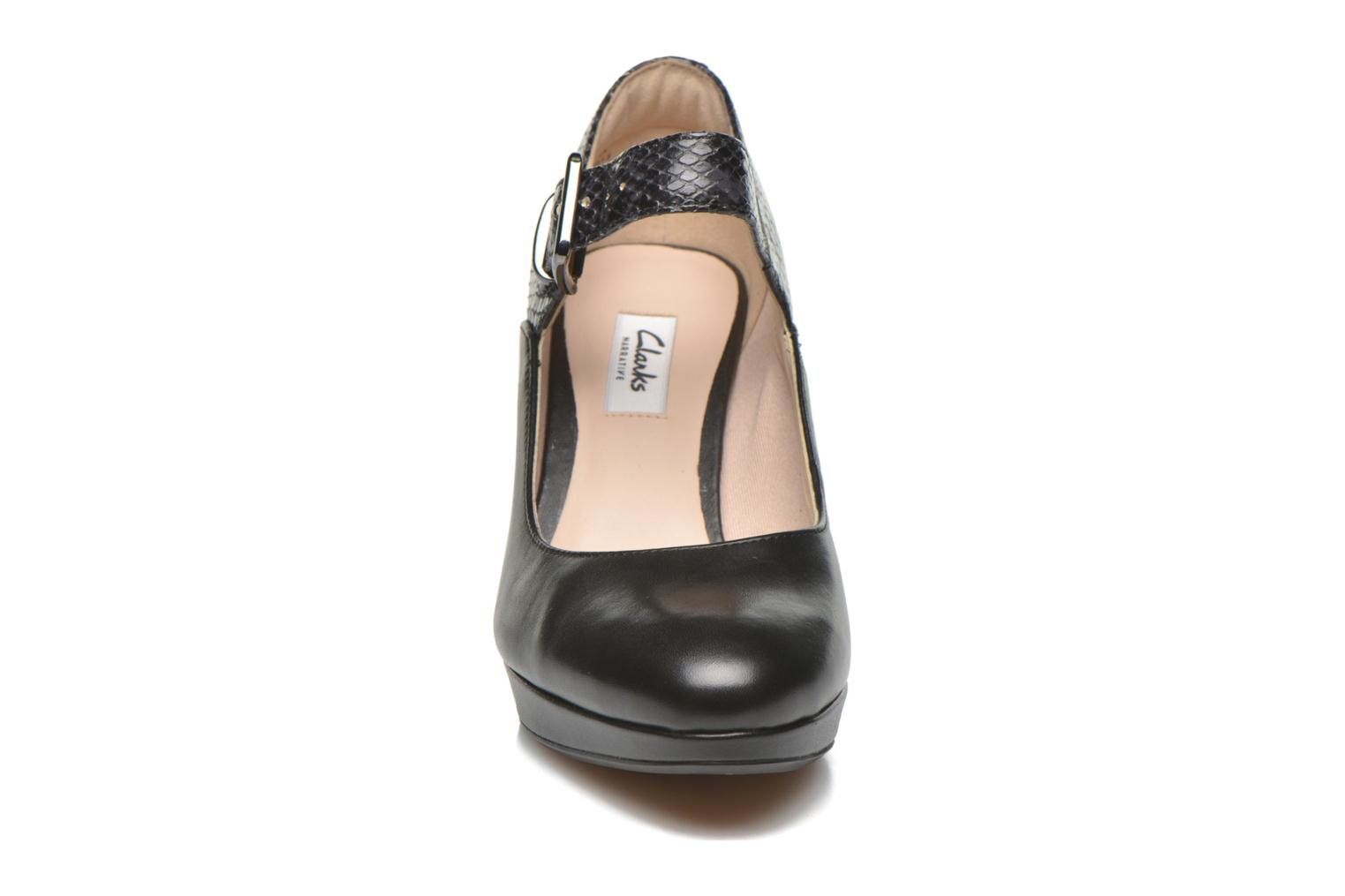 Kendra Gaby Black Combi Leather
