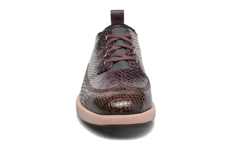Chaussures à lacets Clarks Tri Nia Marron vue portées chaussures