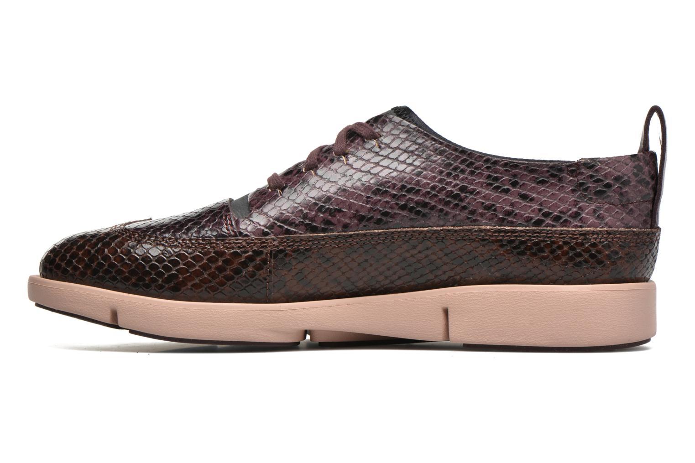 Chaussures à lacets Clarks Tri Nia Marron vue face