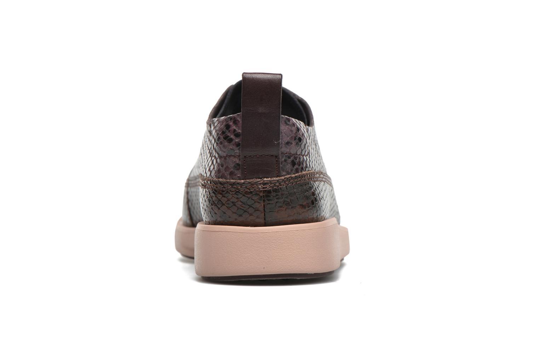 Chaussures à lacets Clarks Tri Nia Marron vue droite