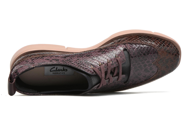 Chaussures à lacets Clarks Tri Nia Marron vue gauche