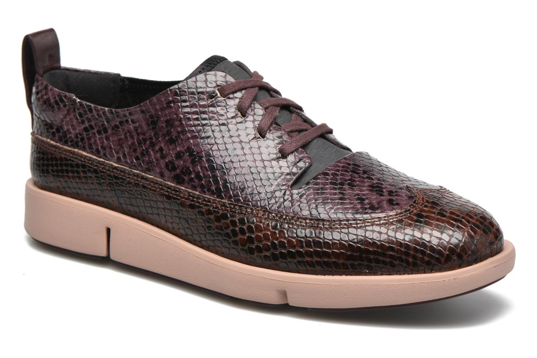 Chaussures à lacets Clarks Tri Nia Marron vue détail/paire