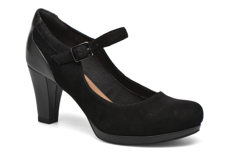 Zapatos de tacón Clarks Chorus Halo Negro vista de detalle / par