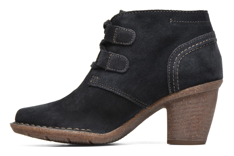 Bottines et boots Clarks Carleta Lyon Bleu vue face