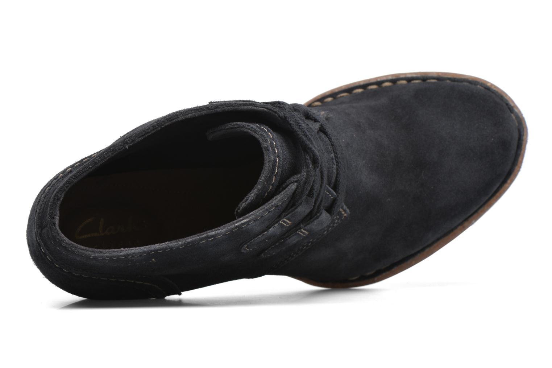 Bottines et boots Clarks Carleta Lyon Bleu vue gauche