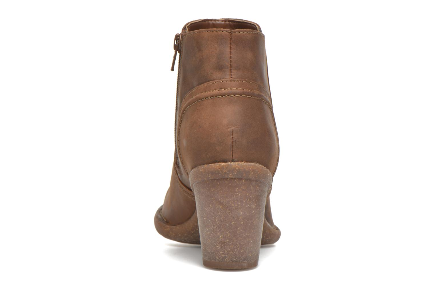 Ankle boots Clarks Carleta Paris Brown view from the right
