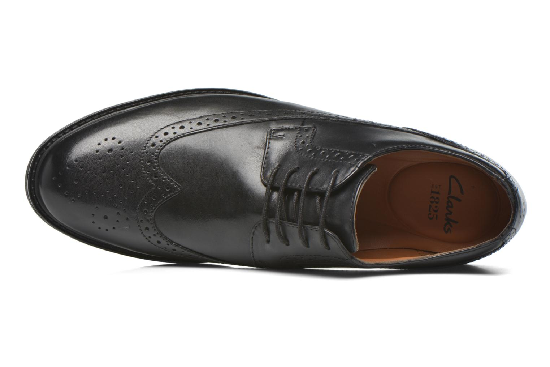 Zapatos con cordones Clarks Beckfield Limit Negro vista lateral izquierda