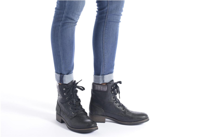Bottines et boots Dockers Gaella Noir vue bas / vue portée sac