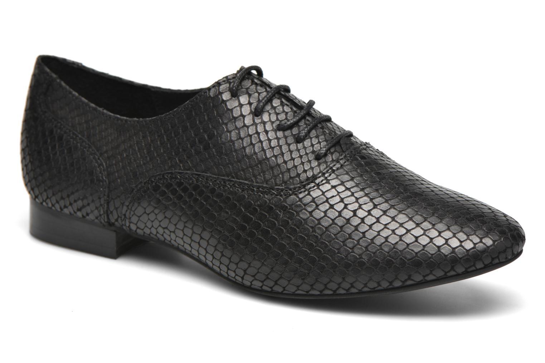 Chaussures à lacets COSMOPARIS Viani/Pyt Noir vue détail/paire