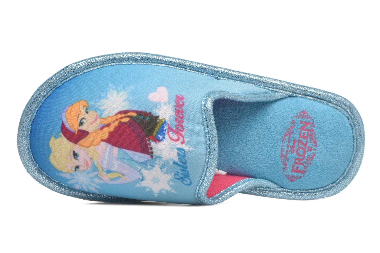 Pantuflas Frozen Safouan Frozen Azul vista lateral izquierda