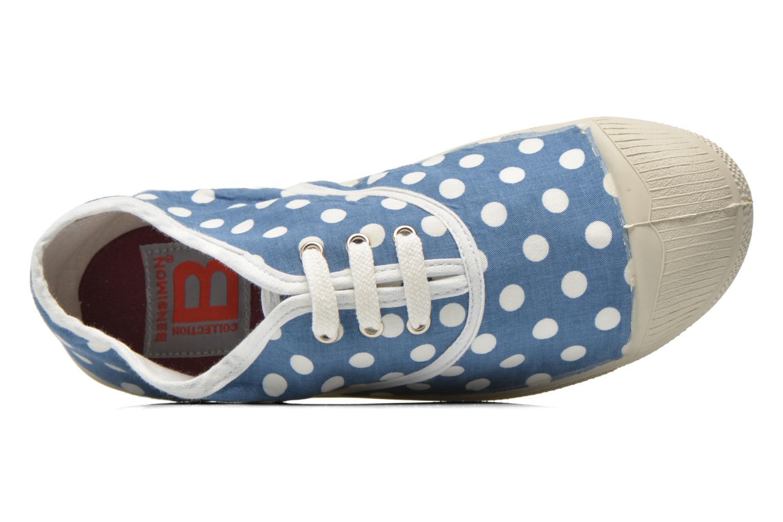 Baskets Bensimon Tennis Lacets Pois E Bleu vue gauche