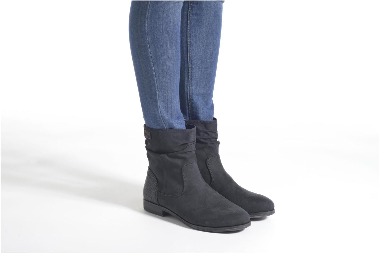 Bottines et boots S.Oliver Abana Noir vue bas / vue portée sac