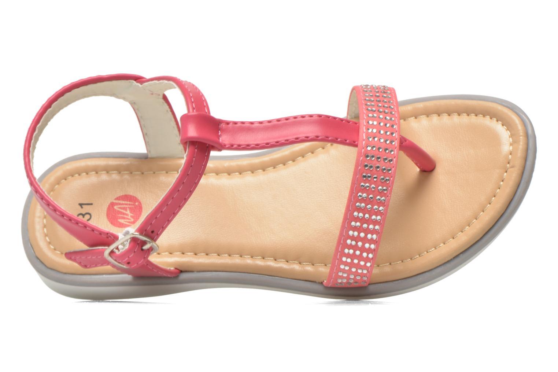 Sandales et nu-pieds NA! Fourmi Rose vue gauche