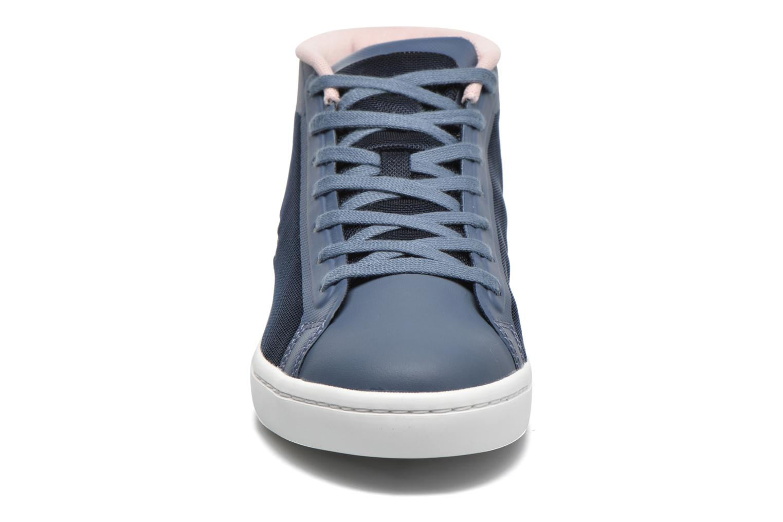 Baskets Lacoste Straightset Chukka 316 2 Bleu vue portées chaussures
