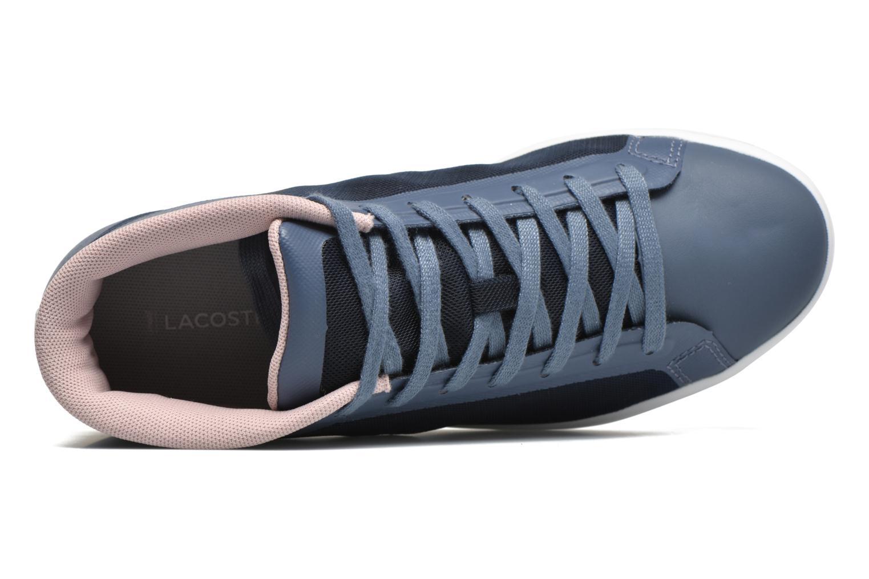 Baskets Lacoste Straightset Chukka 316 2 Bleu vue gauche