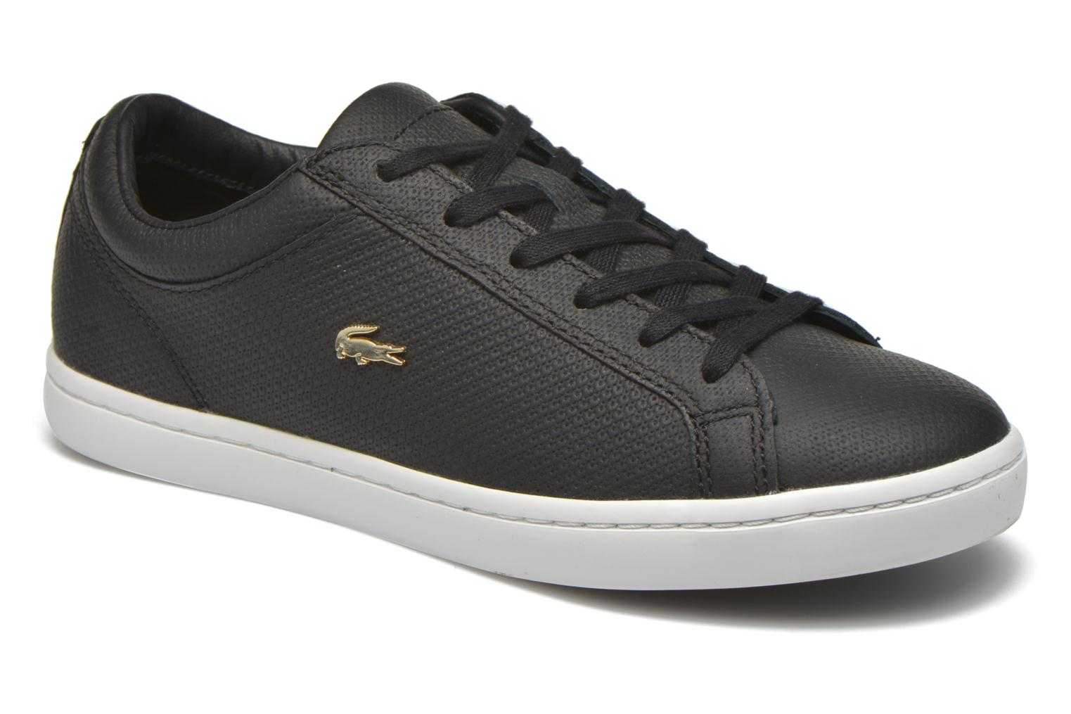 Trainers Lacoste Straightset 316 3 Black detailed view/ Pair view