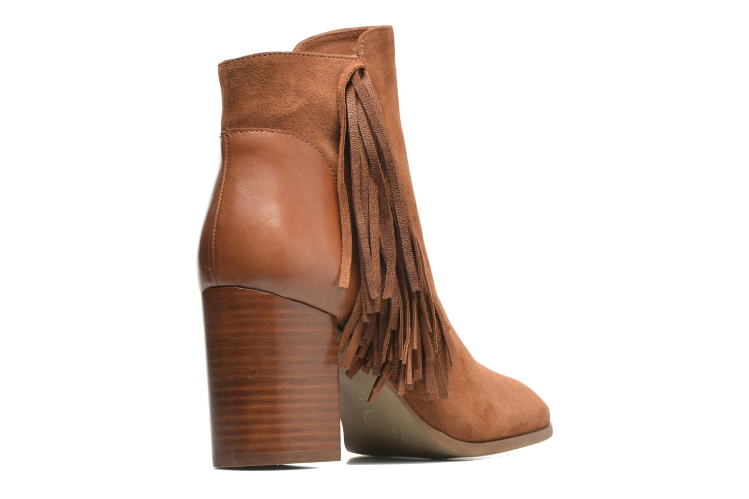 Ankle boots Made by SARENZA See Ya Topanga #8 Brown front view