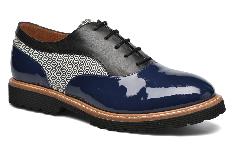 Zapatos con cordones Made by SARENZA West Mister # 16 Azul vista lateral derecha