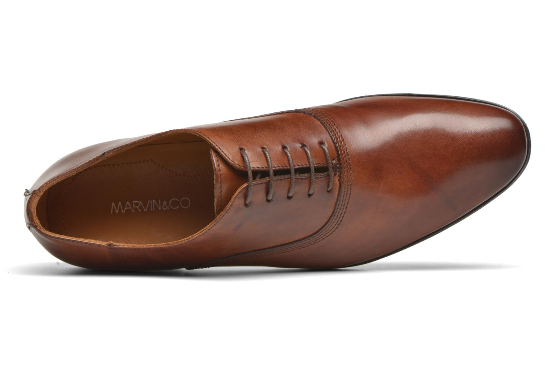 Schnürschuhe Marvin&Co Newry braun ansicht von links